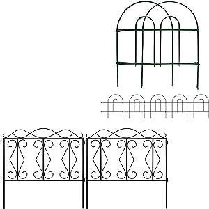 Amagabeli Decorative Garden Fence 18 in x 50 ft Bundle Garden Fence 24inx10ft