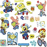 RoomMates Repositionable Childrens Wall Stickers - Spongebob Skaters