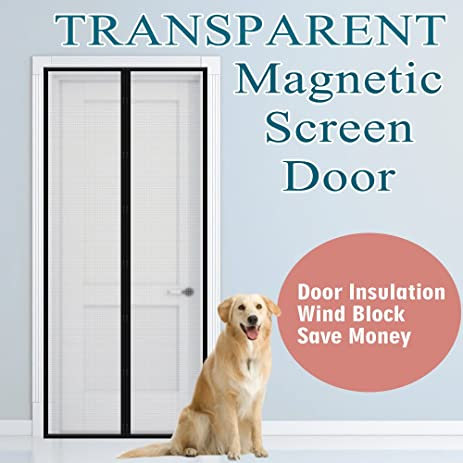 Transparent Magnetic Screen Door 36u0026quot; X 83u0026quot;, Thermal And Insulated  Curtain Fit Door