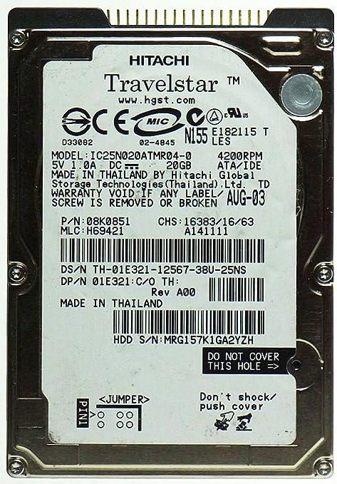Hitachi Hard Drive 2.5 Inch IDE 20 GB Refurbished