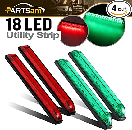 New Great A Pair Bow Navigation Light For Boats Stainless Housing Red and Green
