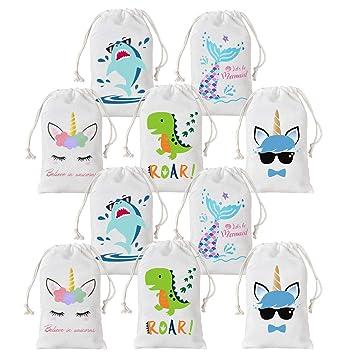 Amazon.com: Unicorn Shark - Bolsas de dinosaurio para niños ...
