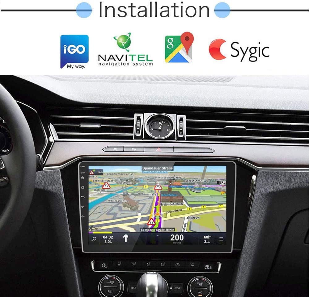 Dual USB Input /& 12 LEDs Backup Camera 2 Din Android Car Stereo with Bluetooth 9 Inch Touch Screen AM FM Radio Support GPS Navigation WiFi Connect Mirror Link for Android//iOS Phone