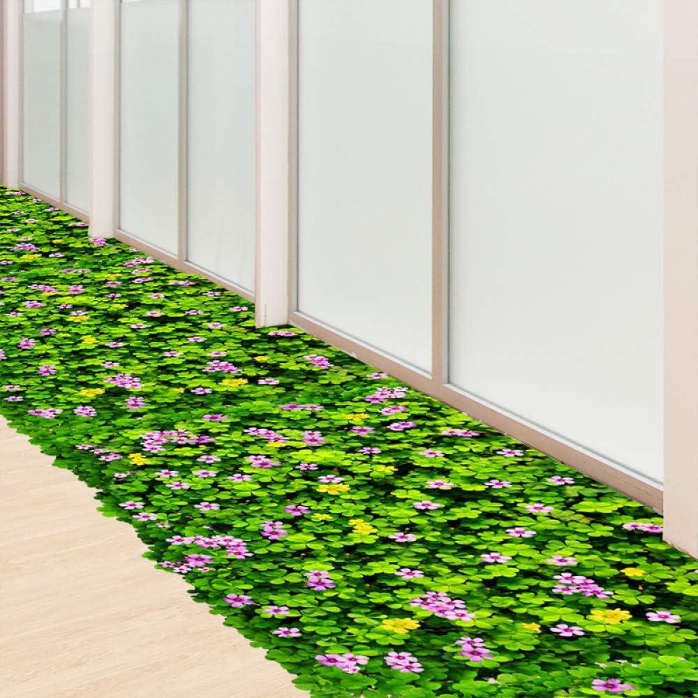 Calcomanía de pared de flor de trébol verde calcomanía de césped ...