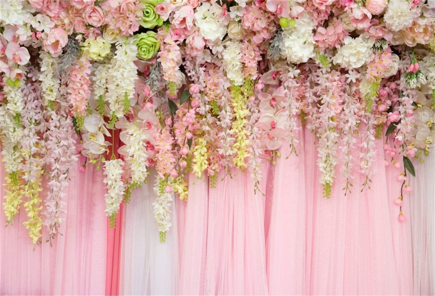 10x10FT Vinyl Backdrop Photographer,Peach,Mellow Organic Delicacy Background for Baby Shower Bridal Wedding Studio Photography Pictures