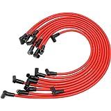 Juego de cables de bujía universal de 10,5 mm de alto rendimiento, compatible con Chevy, GM SBC, BBC, Small Block 307, 327, 3