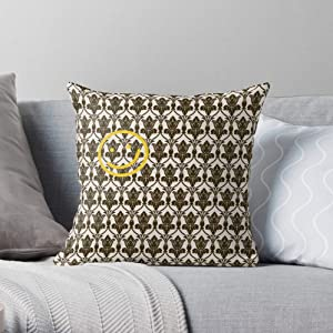 Wallpaper Damask Holmes Sherlock Pattern Throw BBC Geometric Square Form Decorative Indoor Cotton Throw Pillow