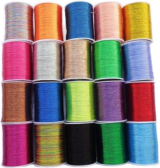 Isoto hilo metálico para bordar, 20 colores surtidos, bobina de ...