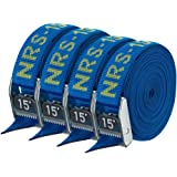 """NRS 1"""" Heavy Duty Tie Down Strap 4 Pack"""