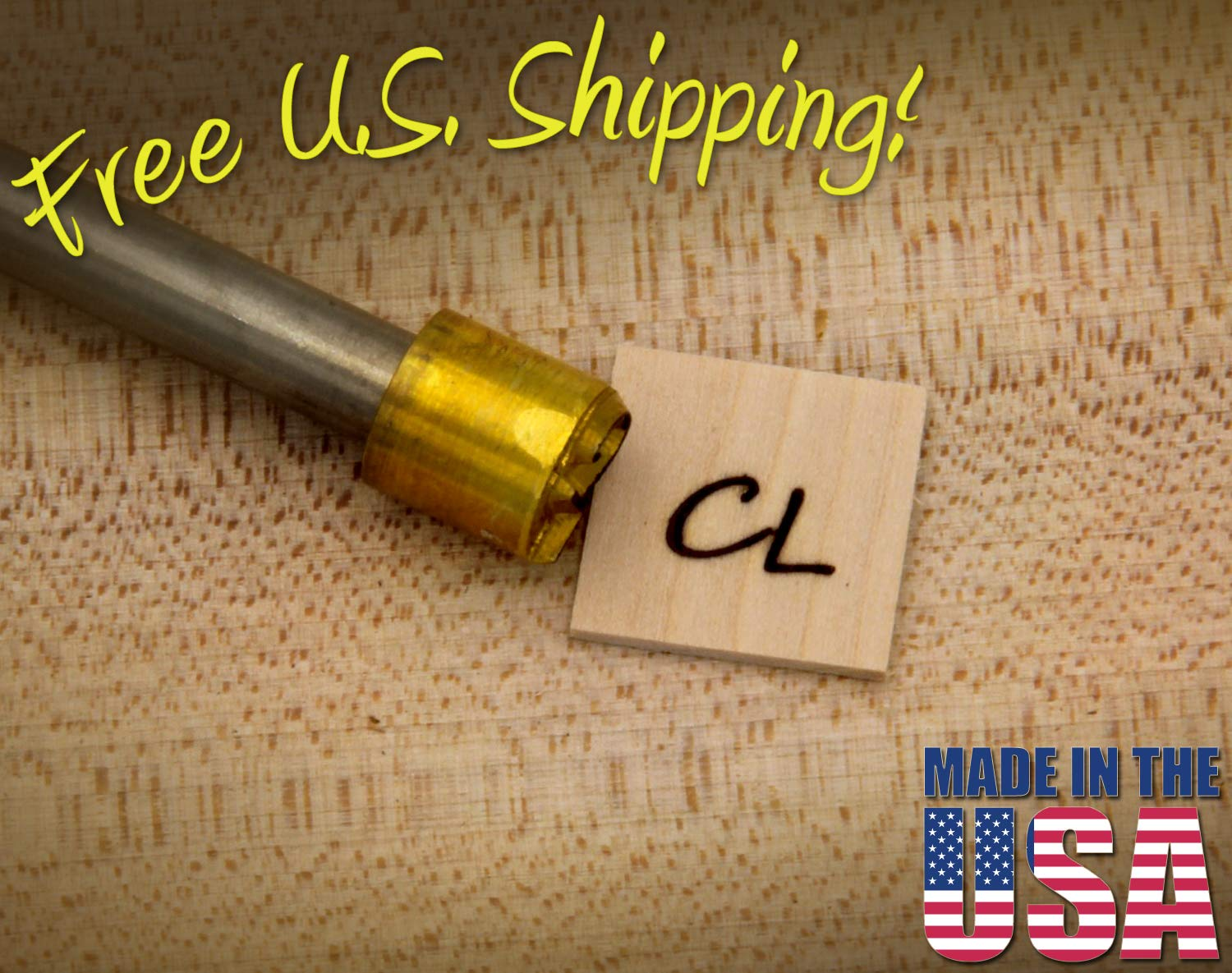 Personalized Text Custom Branding Iron (0.5'' Round Initials) by Beamer's Brands (Image #1)