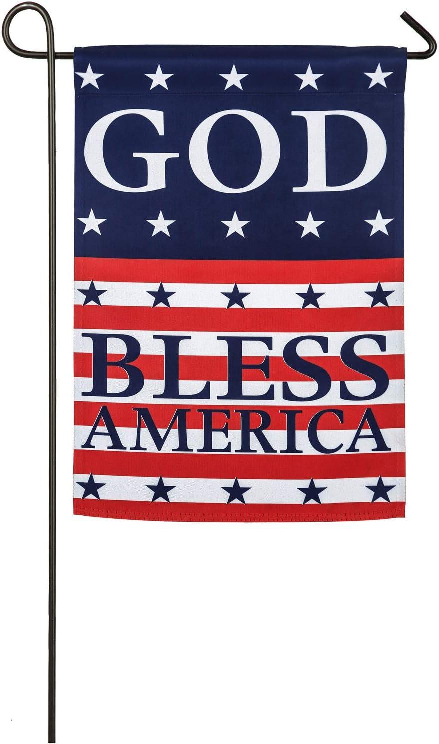 Amazon.com : Evergreen Flag God Bless America Suede Garden Flag ...