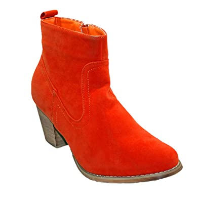 Women's Sally-01 cowboy style ankle bootie with micro suede upper