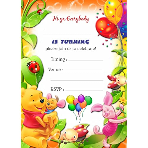 Askprints Birthday Metallic Card Invitations With Envelopes 25 Count