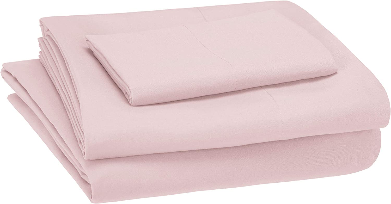 Amazon Basics Pink Kid's Sheet Set