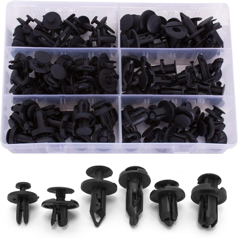 HYUNDAI BLACK Plastic Rivet Push Type Trim Bumper Panel Clips 10PCS