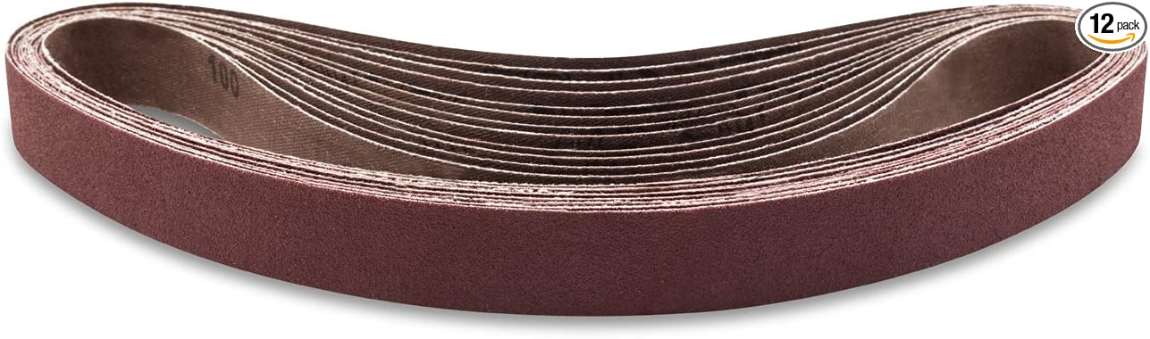 10-Pack POWERTEC 414208A 1-Inch x 42-Inch 80 Grit Aluminum Oxide Sanding Belt
