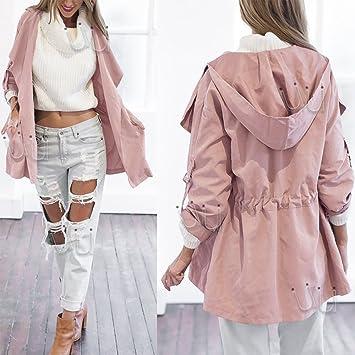 Amazon.com : Women's Warm Coat Fashion Hooded Long Jacket Trench ...