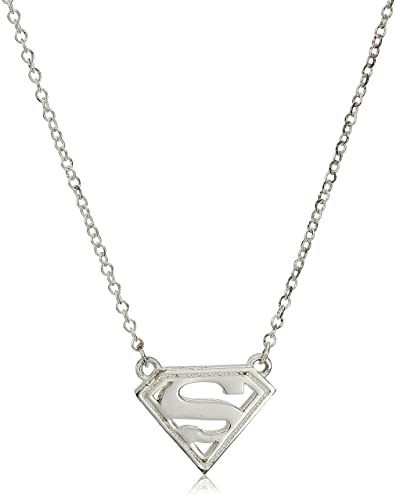 Amazon Dc Comics Sterling Silver Superman Logo Necklace Jewelry