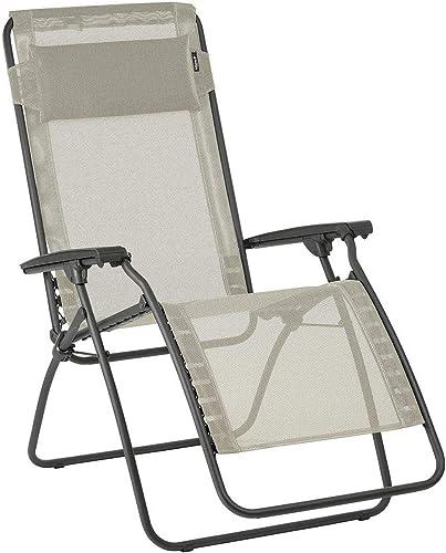 Editors' Choice: Lafuma R-Clip Zero Gravity Patio Recliner Seigle Grey Batyline Canvas Outdoor Folding Lounge Chair