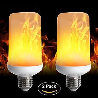 De la llama LED bombilla Bombillas LED luz de vela LED parpadeo llama bombillas, ...