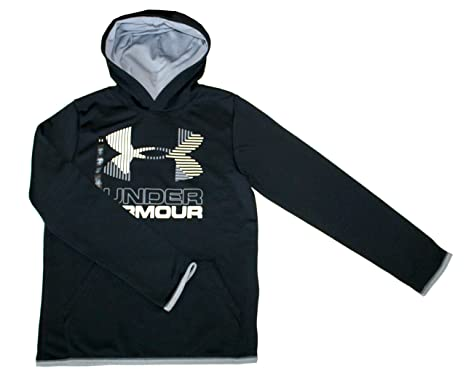 4693428f8 Under Armour ColdGear Athletic Hoodie Youth Boys Big Logo Pullover 1318190 ( Black, S 8