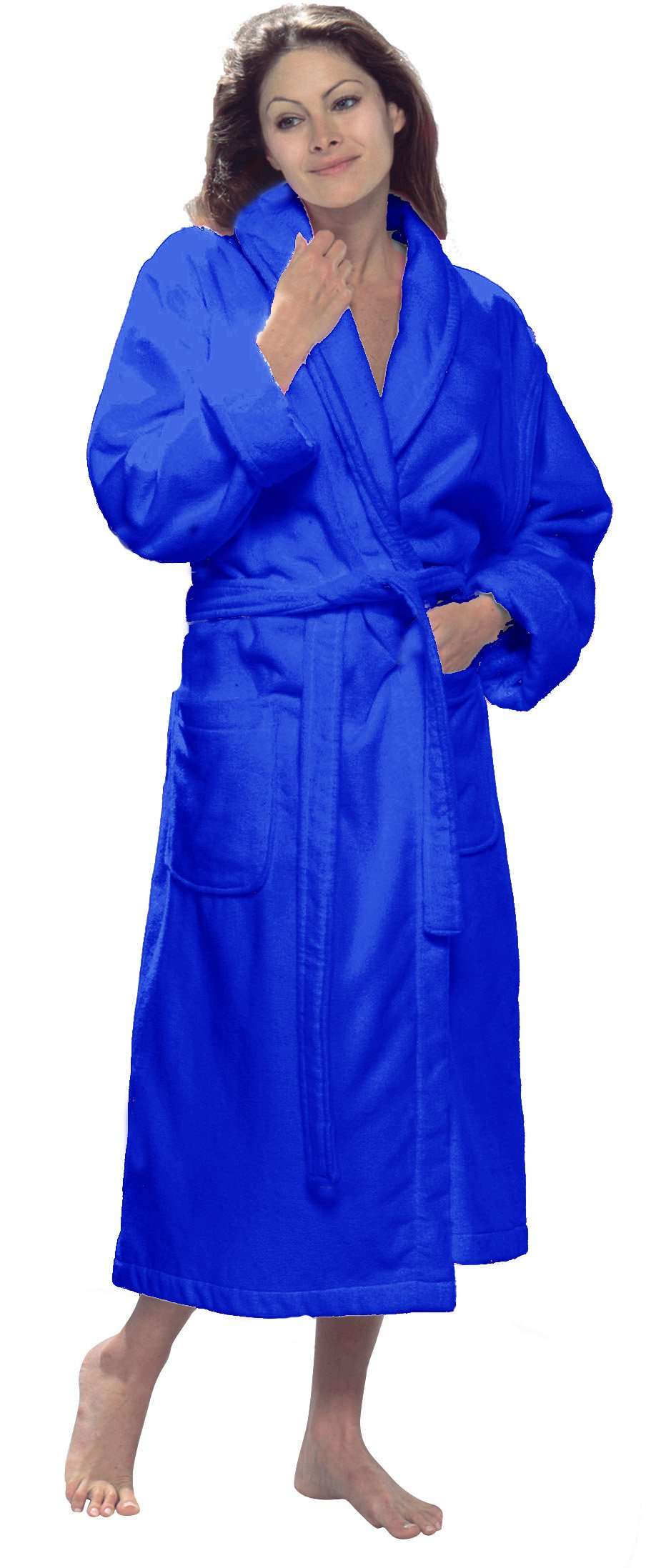 Customized Shawl Robe for Men and Women, Size SMALL / MEDIUM, ROYAL