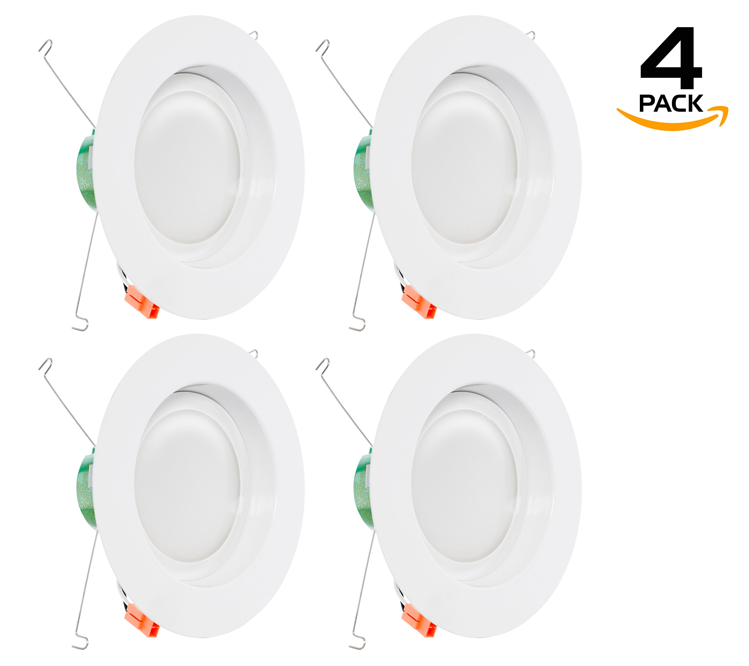 Westgate Lighting 19 Watt 6'' inch Recessed Lighting Kit Dimmable LED Retrofit Downlight with Integrated Smooth Trim 120V - 5 Year Warranty (4100K Cool White, 4 Pack)