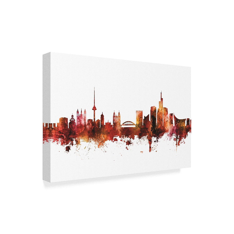 Amazon com: Trademark Fine Art Vilnius Lithuania Skyline Red