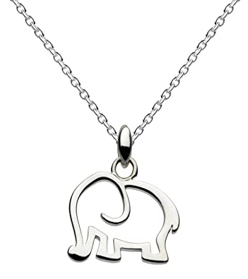 inch necklace of on length elephant chain cm sterling dp silver pendant dew