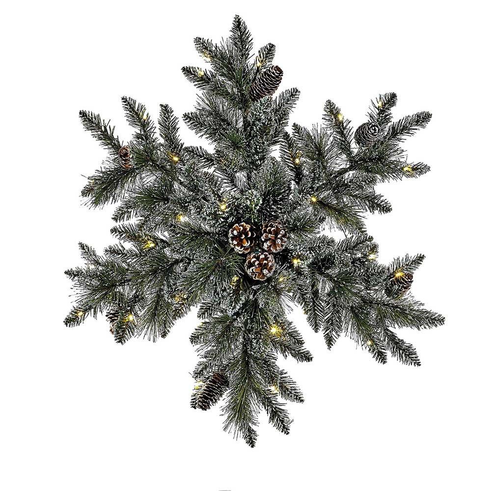Kurt Adler P7505LED 32'' Battery-Operated Pre-Lit LED Snowflake Wreath