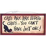 Ohio Wholesale Cats are Like Potato Chips Wall Art, from our Cats and Dogs Collection