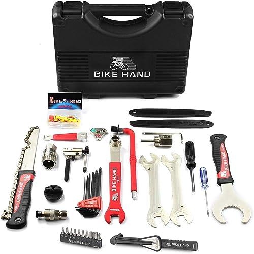 BIKEHAND 17 Piece Bike Bicycle Repair Tool Kit Set Maintenance Kits