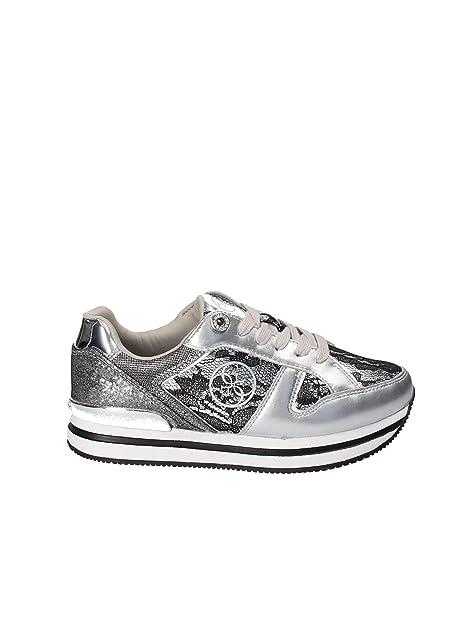 selezione premium a49fe 6c114 Guess FLDA44LAC12 Sneakers Donna Argento 38: Amazon.it ...