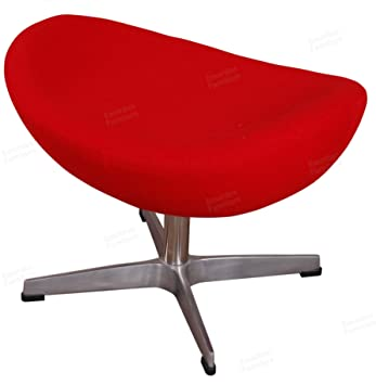 Amazoncom Arne Jacobsen Egg Chair Ottoman In Premium Red Cashmere