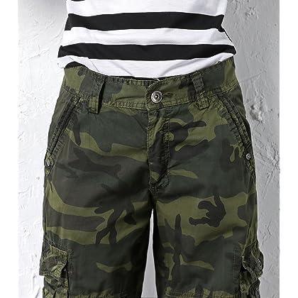 1d165532c5b ... chouyatou Women s Casual Multi-Pockets Sports-Wear Knee Length Cargo  Shorts (X- ...