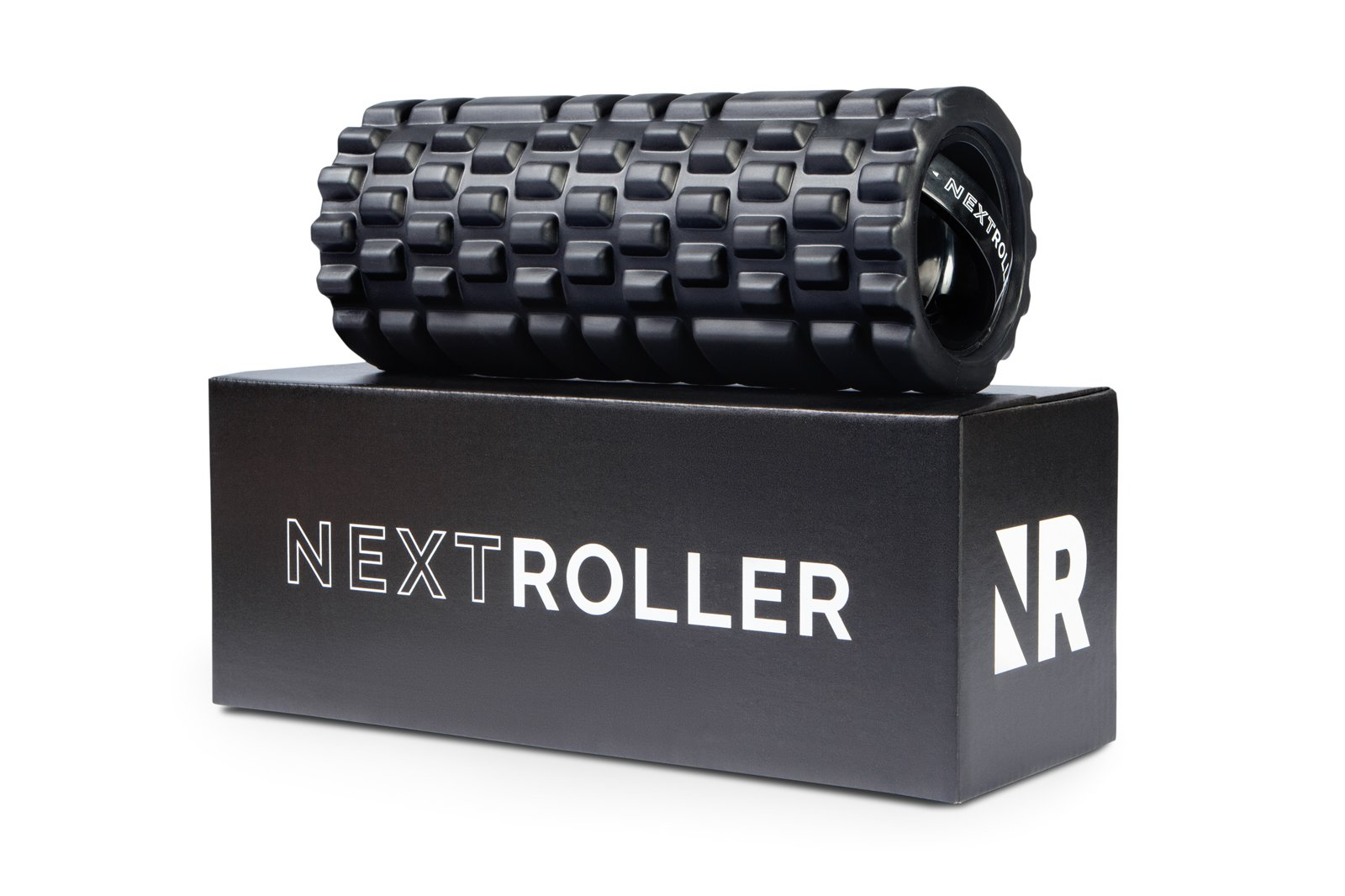NextRoller 3-Speed Rechargeable Electric Vibrating Foam Roller - The Future of Muscle Recovery, Mobility, and Deep Tissue Trigger Point Sports Massage Therapy - Firm High Density, 1 Year Warranty