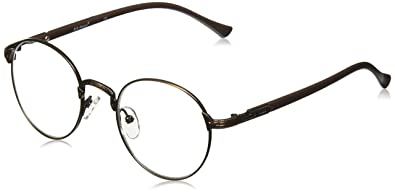 4c30f5840241 A.J. Morgan Unisex-Adult Glib - Power 1.25 53703 Round Reading Glasses,  Antique Bronze