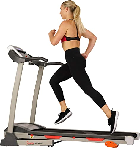 Sunny Health Fitness Folding Treadmill