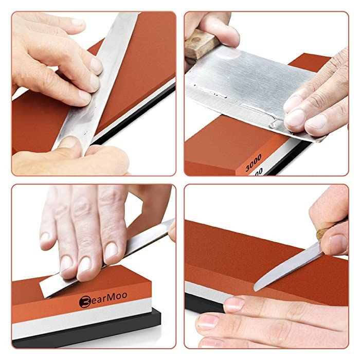 BearMoo Whetstone 2-IN-1 Sharpening Stone 3000/8000 Grit Waterstone Review