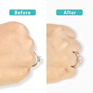 Invisible Ring Size Adjuster for Loose Rings Ring Adjuster Sizer Fit Any Rings Ring Guard Spacer (Color: CLIP-ON, 8 PCS)