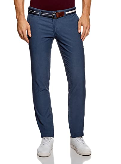 plus récent belle qualité mignon pas cher oodji Ultra Homme Pantalon Chino Slim Fit