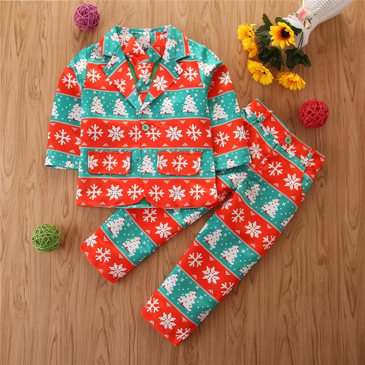 niño niño niña Unisex Ventilador de Navidad Trajes 3 Piezas ...