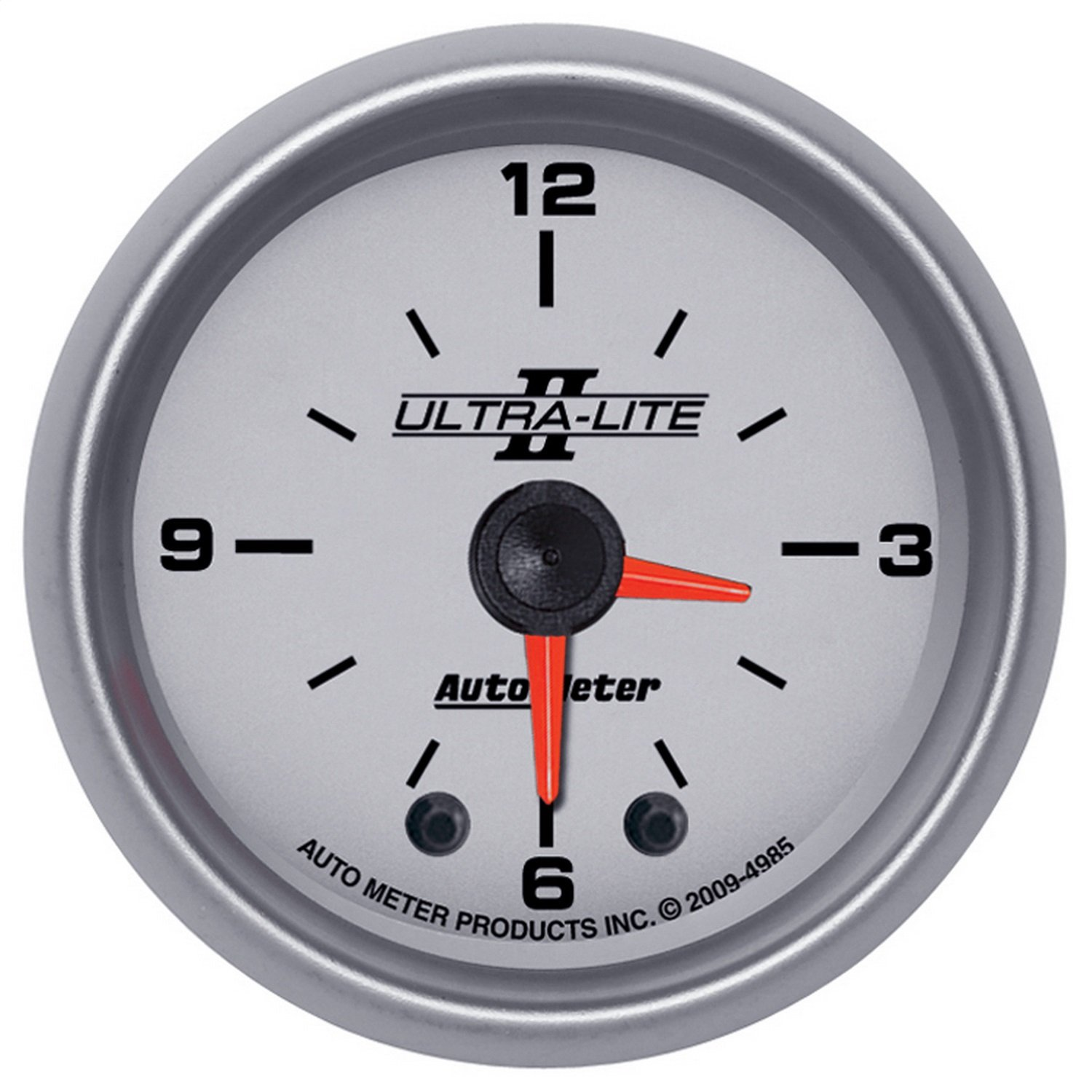Auto Meter 4985 Ultra-Lite II 2'' Analog Illuminated Clock Gauge