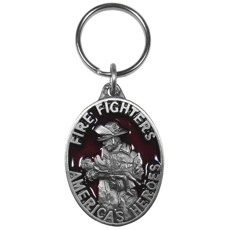Siskiyou Automotive KR219E Metal Key Chain Fire Fighters Americas Heros Enameled Details