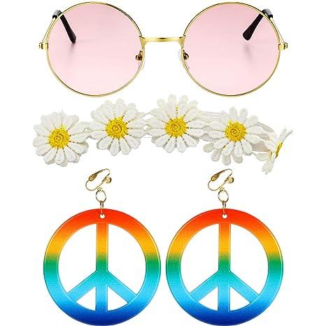 Conjunto de Disfraces de 3 Piezas con Estilo Hippie, Incluye ...