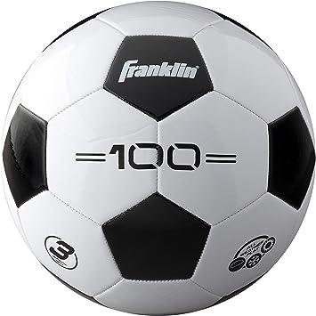 Franklin Sports Competition F-100 - Balón de fútbol, Color Blanco/Negro, tamaño 3: Amazon.es: Deportes y aire libre