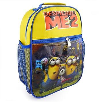 liyi Despicable Me 2 niños dibujos animados 3 Minions Amarillo Bolsa Mochila Escolar Para Niños Niños regalo: Amazon.es: Equipaje