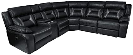 Amazoncom Homelegance Amite 6 Piece Power Reclining Sectional With
