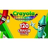 Crayola 120 Crayon Box with Sharpener, Assorted Bright, Vivid Classic Crayola Colours, Art and Craft, Kindergarten…