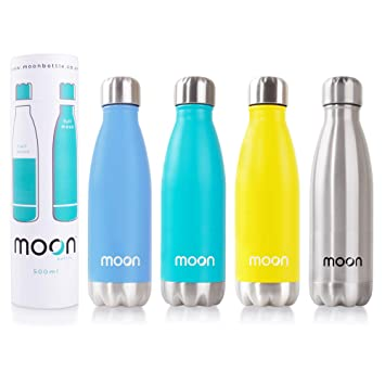 Botella para el agua de Moon Bottle de acero inoxidable con ...